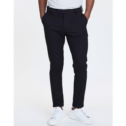 Svarta kostymbyxor för herr 2021