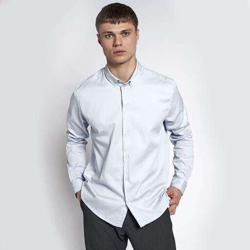 Ljust blå studentskjorta för herr 2021
