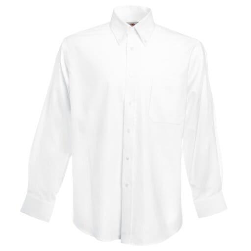 Vit billig studentskjorta för herr
